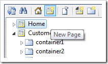 Creating a new page in the web app.