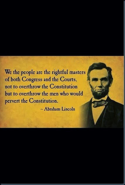 Lincoln on the Congress and Courts