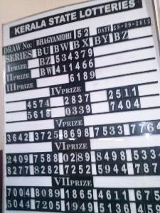 Kerala lottery result -28-09-2012