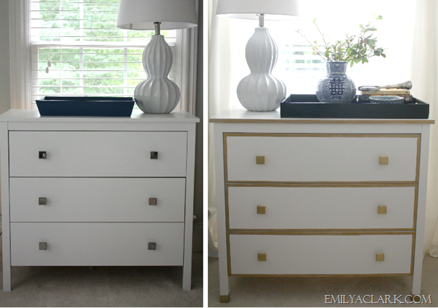 IKEA nightstand makeover before and after