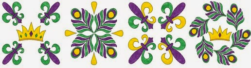 Mardi Gras table runner CLS110 (2)