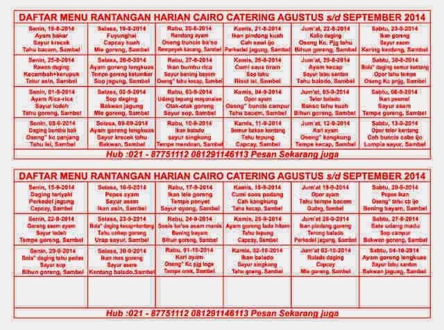 Katering Harian di Malang, rantangan dan kotakan, halal, bebas MSG, kirim sampai kerumah.