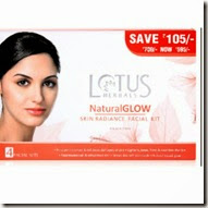 Amazon: Lotus Herbals Natural Glow Kit Skin Radiance Facial Kit Rs. 175