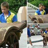 Lever de charrette à l'école de force basque de Briscous