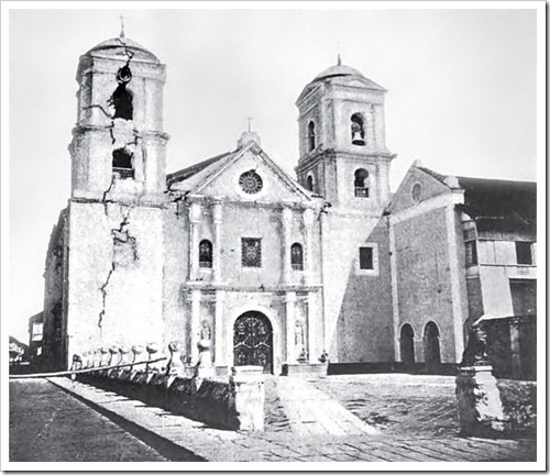 San Agustin Church, Manila after the 1863 earthquake