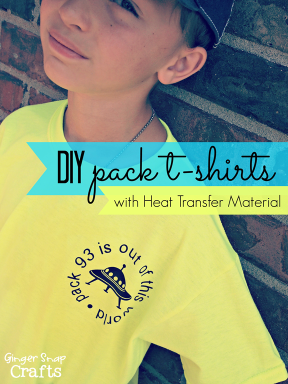 DIY Pack T-shirts with Heat Transfer Material from #Silhouette #DIY #CubScouts #tutorial
