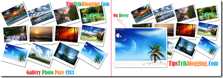 Gallery Photo Pure CSS3