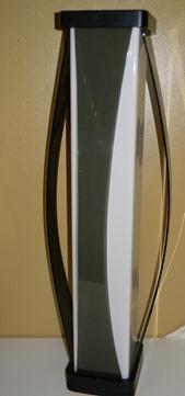 Smoked acrylic floor lamp