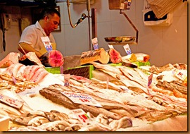 Madrid mercado fish