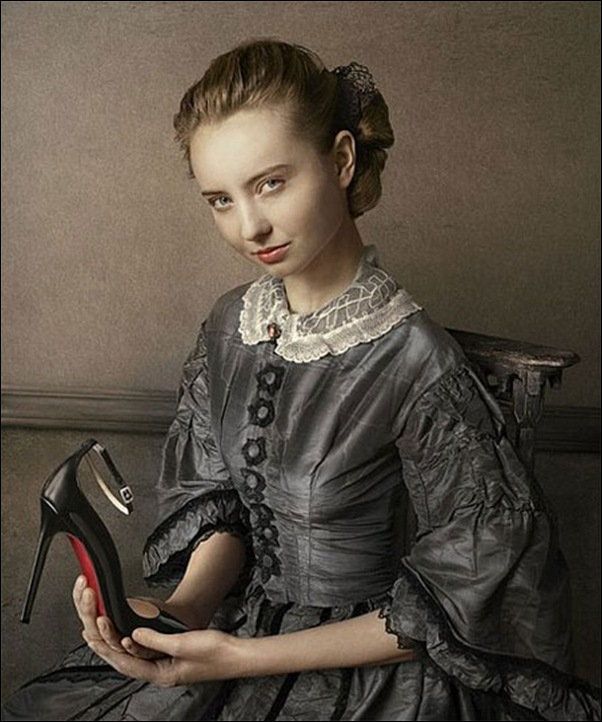 "Peter Lippman, Campagne""chaussures Louboutin"""