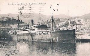 El PRINS ADALBERT fue el buque que abrio la ruta Hamburgo Cuba de la Hamburg Amerika Line en 1903. Foto Colección Arturo Paniagua