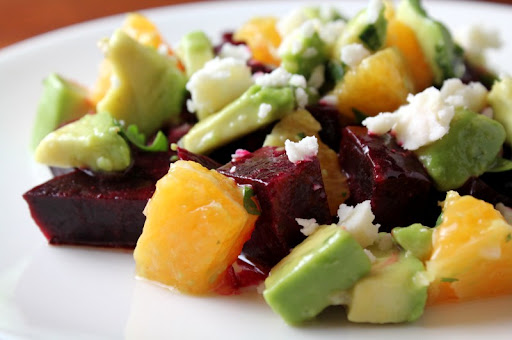 Beet Avocado and Orange Salad