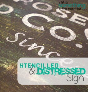 Stencilled and Distressed WM