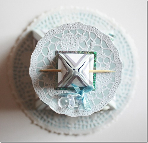Dåpsinvitasjoner pyramide kort invitasjon baby blå IMG_1693