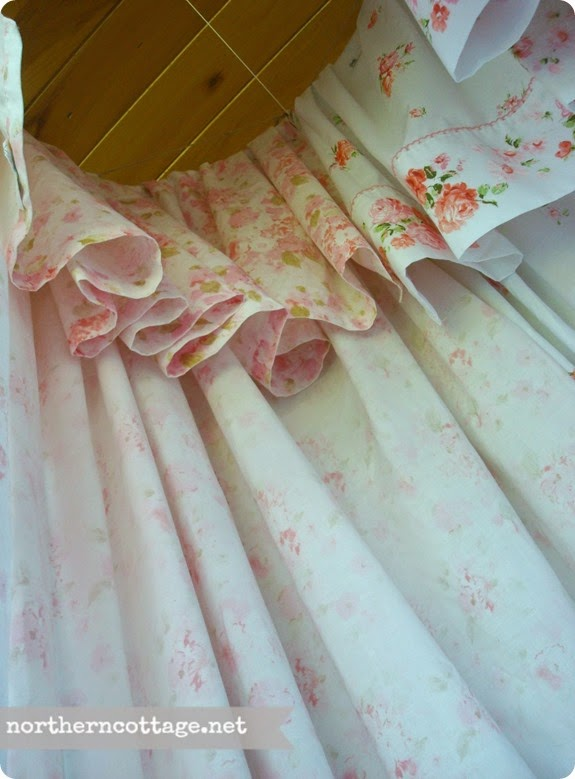 View Inside a Vintage Sheet Canopy {NorthernCottage}
