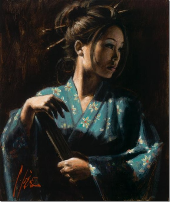 Fabian Perez 1967 - Argentine Figurative painter - Reflections of a Dream - Tutt'Art@ (7)