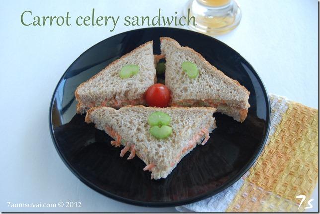 Carrot celery sandwich