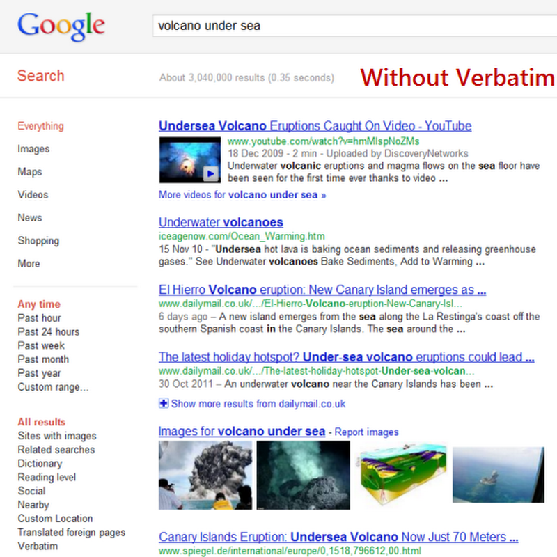 Use Google Verbatim to Get Exact Search Results