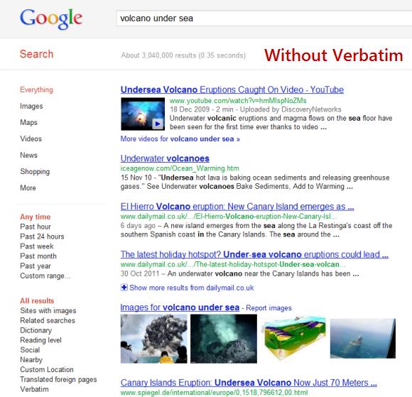 verbatim-without