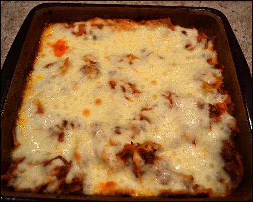 baked bow tie lasagna