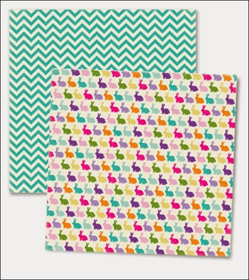 Scrapbook Paper - Easter Bunnies