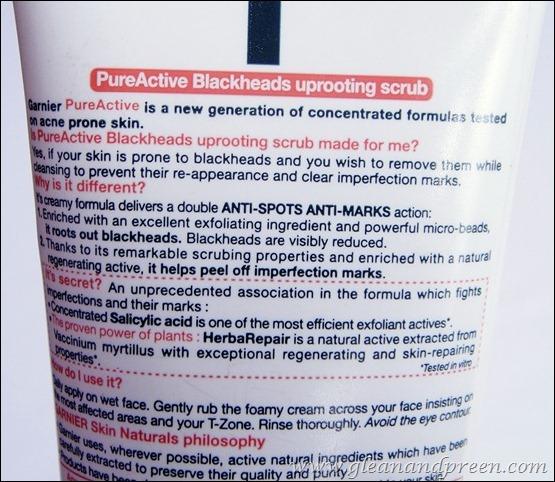 Garnier PureActive Blackheads Uprooting Scrub Claims