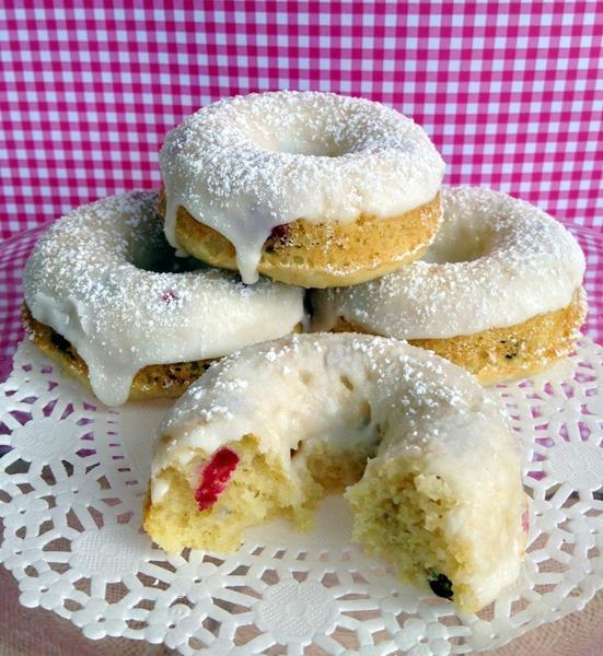 lemon blueberry baked doughnut recipe huckleberry gluten free