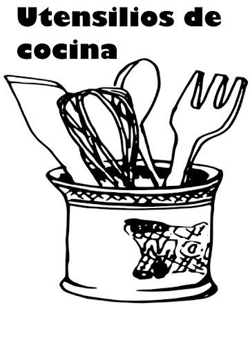 Utensilios De Cocina Para Colorear