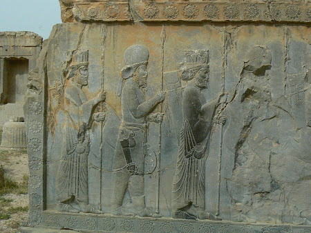 Things to see in Persepolis: Persian soldiers