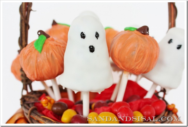 Ghost & Brownie Pops
