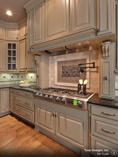 This One Below Has Many Trendy Thingsu2026 Greige Cabinets, Brass Hardware,  Marble Countertopsu2026