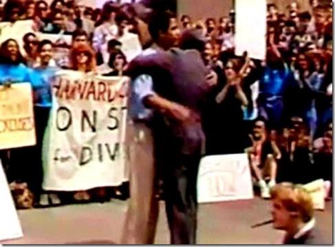 BHO hugging Leftist Derrick Bell 1991