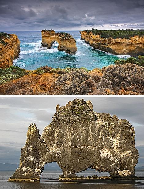 Island Archway, Australia – Hvítserkur, Iceland