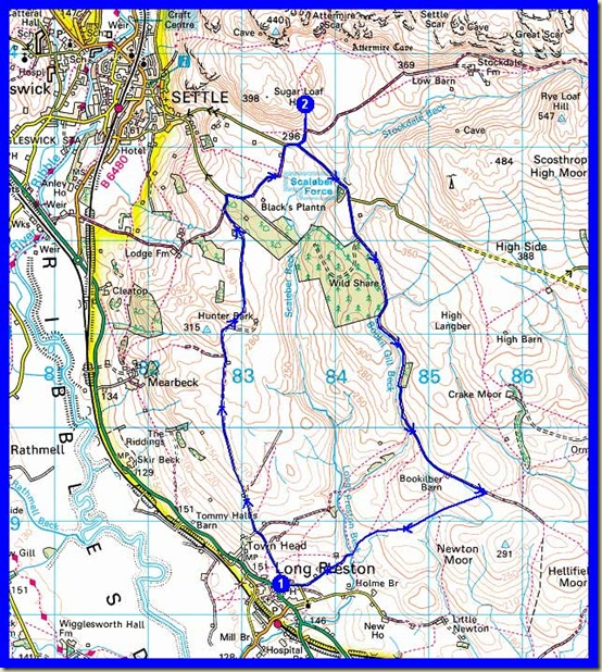 Our route: 14km, 270 metres ascent, around 3 hours