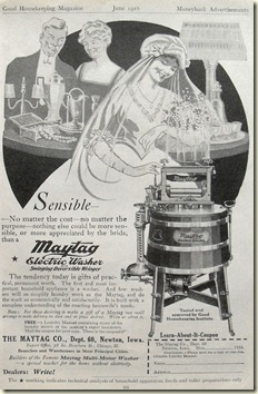 Washer 1916 Vintage Advertising Illustration 1910s Maytag Washing Machine