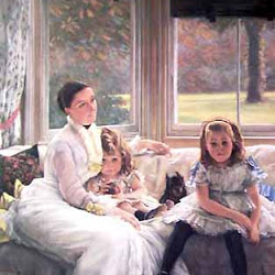 Tissot, James Jacques ~Mrs. Catherine Chapple-Gill and Her Children~