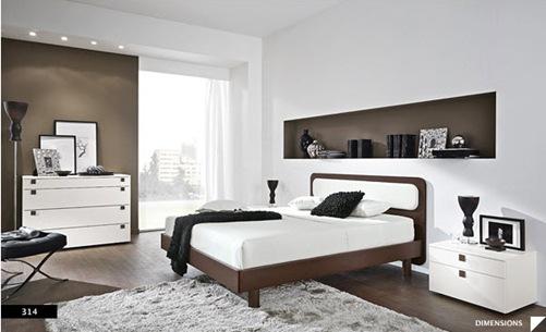 diseños de dormitorios modernos a dos colores