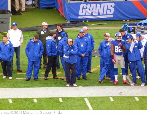 'Tom Coughlin watches from the sideline' photo (c) 2012, Marianne O'Leary - license: http://creativecommons.org/licenses/by/2.0/