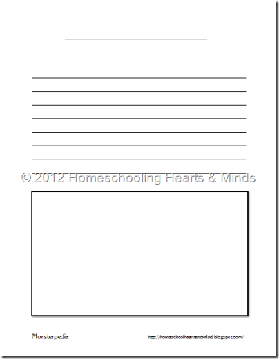 Worksheets Create Your Own Worksheets homeschooling hearts minds free monsterpedia printable create your own monster thumbnail