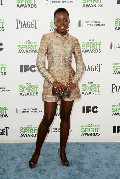 Lupita Nyong'o attends the 2014 Film Independent Spirit Awards