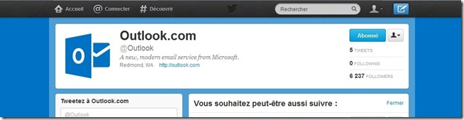 Outlook sur Twitter