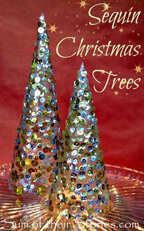 Sequin Christmas Trees 3