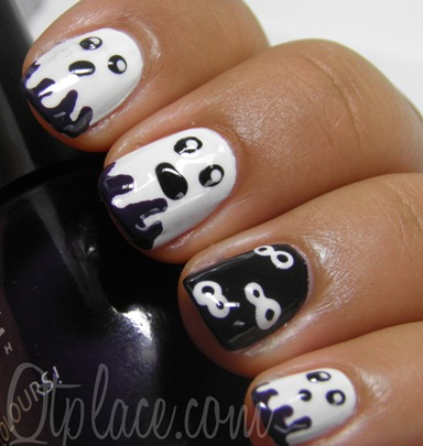 ghost-halloween-nail-art-