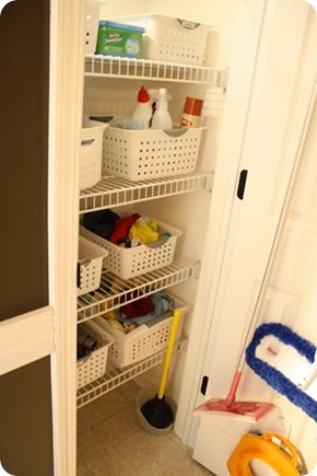 organized linen closet