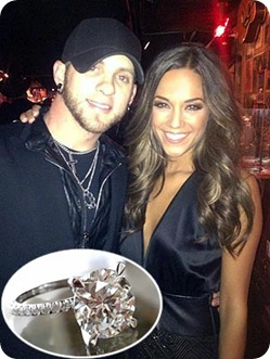 Jana Kramer's Five Carat Round Cut Ring