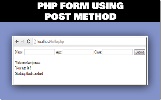 post method php form