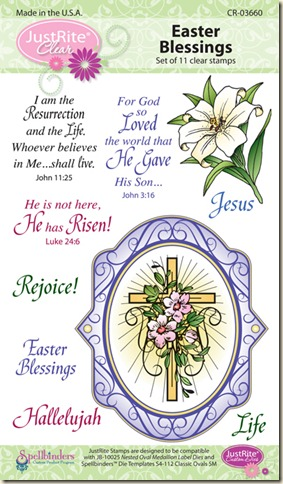 EASTER BLESSINGS OVAL CLEAR 14.95 03660-lg