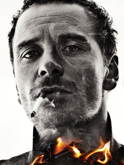 Michael Fassbender by Sebastian Kim for Interview, February 2012.  Styled by Elin Svahn.