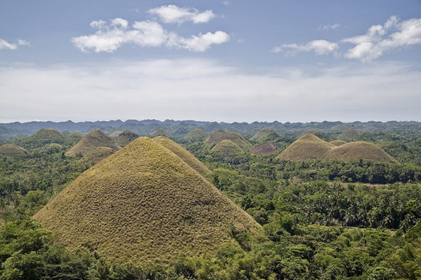 The Chocolate Hills in Philippines
