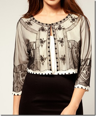 Curve Lace beaded bolero